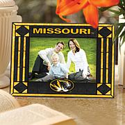 Art Glass Horizontal Picture Frame - Univ of Missouri