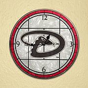 Art Glass Wall Clock - Arizona Diamondbacks