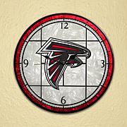 Art Glass Wall Clock - Atlanta Falcons
