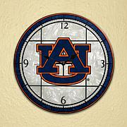 Art Glass Wall Clock - Auburn University