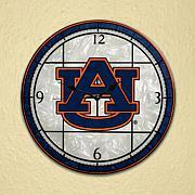 Art Glass Wall Clock - Auburn University