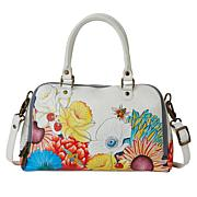 """""""As Is"""" Anuschka Hand-Painted Leather Organizer Satchel"""