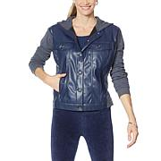 """""""As Is"""" DG2 by Diane Gilman Faux Leather and French Terry Jacket"""
