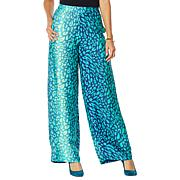 """""""As Is"""" IMAN Global Chic Printed Wide-Leg Pant with Pockets"""