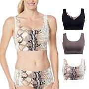 """""""As Is"""" Rhonda Shear 3-pack Body Bra with Removable Pads"""