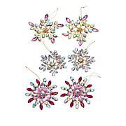 august & leo 6-piece Jeweled Snowflake Ornament Set