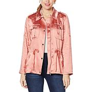 Avec Les Filles Anorak with Rolled Tab Sleeves