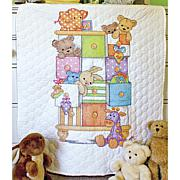 "Baby Hugs Quilt Stamped Cross Stitch Kit - 34"" x 43"" Ba"