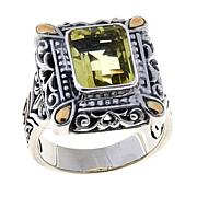 Bali Designs 3ct Lemon Quartz Rectangle Ring