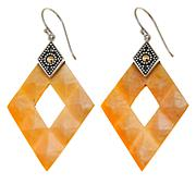 Bali Designs Mother-of-Pearl Diamond-Shape Earrings