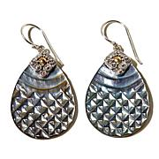 Bali Designs Mother-of-Pearl Sterling Silver Earrings