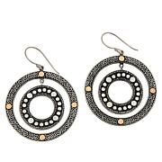 Bali Designs Sterling Silver and 18K Two-Tone Circle Earrings