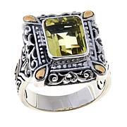 Bali RoManse 3ct Lemon Quartz Rectangle Ring