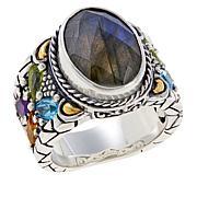 Bali RoManse Labradorite and Multi-Gemstone Ring