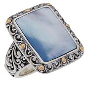 Bali RoManse Mother-of-Pearl Scrollwork Ring