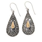 Bali RoManse Sterling Silver Filigree Pear-Shaped Drop Earrings