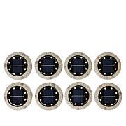 Bell + Howell 8-pack Stone Solar Ultra Disk Lights
