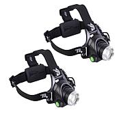 Bell + Howell High Performance DLX TacLight Headlamp 2-pack