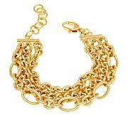 """Bellezza Bronze 3-Row Multi-Link 7-1/2"""" Bracelet"""