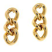 Bellezza Bronze Bold Curb-Link Drop Earrings
