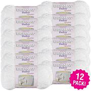 Bernat Baby Sparkle Yarn 12-pack - White Sparkle