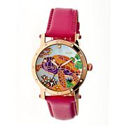 Bertha Chelsea Mother-of-Pearl Dial Leather Strap Watch
