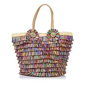 Betsey Johnson Tiki Time Straw Tote