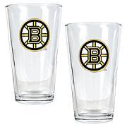 Boston Bruins 2pc Pint Ale Glass Set