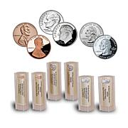 BU and Proof Penny, Dime and Quarter 6-Roll 280-Coin Set