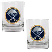 Buffalo Sabres 2pc Rocks Glass Set