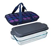 Built New York Go-Go Baking Dish with Lid and Insulated Carrier