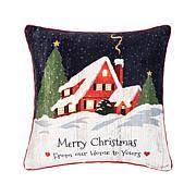 C&F Home Merry Christmas Home LED Pillow