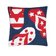 C&F Home Patriotic Flip Flops Pillow