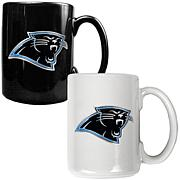 Carolina Panthers 2pc Coffee Mug Set