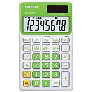 Casio Solar Wallet Calculator, 8-Digit Display/Green