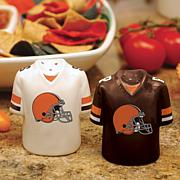 Ceramic Salt and Pepper Shakers - Cleveland Browns