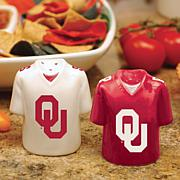 Ceramic Salt and Pepper Shakers - Oklahoma