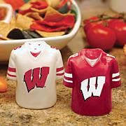 Ceramic Salt and Pepper Shakers - Wisconsin