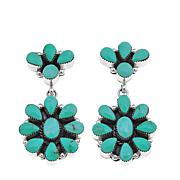 Chaco Canyon Cluster Kingman Turquoise Drop Earrings