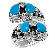 Chaco Canyon Kingman Turquoise 4-Stone Sterling Silver Ring