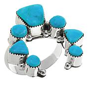 "Chaco Canyon Kingman Turquoise ""Naja"" Ring"