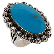 Chaco Canyon Kingman Turquoise Sterling Silver Star Ring