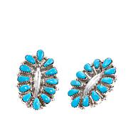 Chaco Canyon Zuni Turquoise Cluster Stud Earrings
