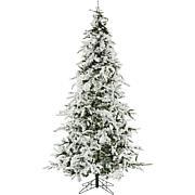 Christmas Time 7.5' White Pine Snowy Artificial Christmas Tree