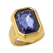 "CLB NYC ""Concrete Jungle"" Colored Crystal Goldtone Ring"