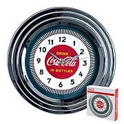 "Coca-Cola 11-3/4"" Clock with Chrome - '30s Style"