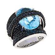Colleen Lopez 17.48ctw Sky Blue Topaz and Spinel Ring