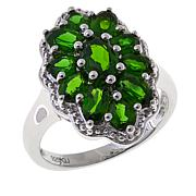 Colleen Lopez 2.34ctw Oval Chrome Diopside Cluster Ring