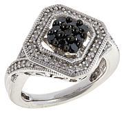 Colleen Lopez .53ctw Black and White Diamond Ring