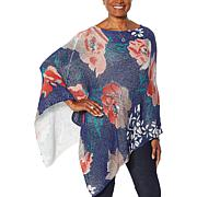 Colleen Lopez Best Buds Floral Printed Poncho